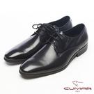 CUMAR簡約造型真皮紳士鞋-黑