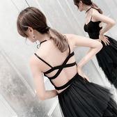 時尚歐美新款性感露背交叉莫代爾短款吊帶美背抹胸內衣 DN7713【野之旅】