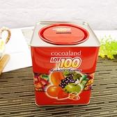 LOT 100一百份綜合水果QQ軟糖存錢筒 300g/筒 【4715243061959】( 精美伴手禮)