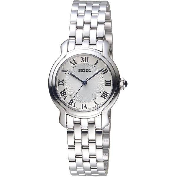 SEIKO精工羅馬經典時尚碗錶 7N01-0GX0W SRZ519P1 銀色