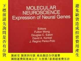 二手書博民逛書店MOLECULAR罕見NEUROSCIENCE Expression of Neural GenesY2364
