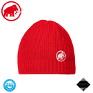 【MAMMUT 長毛象 Sublime Beanie 超輕彈性雙層針織保暖羊毛帽《岩漿紅》】1191-01542/保暖帽/針織帽