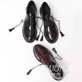 系帶粗跟單鞋牛津鞋 米蘭shoe