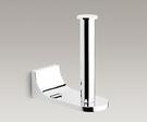 【 麗室衛浴】美國 KOHLER Loure 直立式廁紙架/衛生紙架 K-11583T-CP