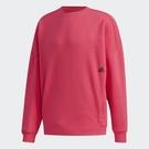Adidas MUST HAVES WORD 男裝 長袖 T恤 寬鬆 東京街頭風圖案 棉質 紅【運動世界】GE0361