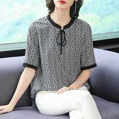 2019新款夏裝寬鬆大碼媽媽重磅真絲襯衫女短袖桑蠶絲上衣韓版氣質-ifashion