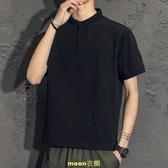 短袖T恤男士潮流夏季新款潮牌男裝休閒翻領polo衫半袖上衣服 [快速出貨]