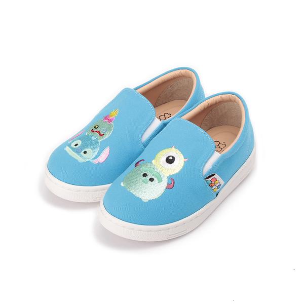 DISNEY TsumTsum懶人布鞋 藍 417002 中小童