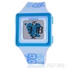 XONIX可愛卡通時尚LED多功能防水兒童夜光女生女孩電子手錶女HB 夏季狂歡