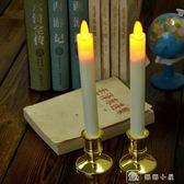 紅色蠟燭搖擺長桿電子蠟燭燈 教堂節日仿真桿形LED電子蠟燭 供佛 娜娜小屋