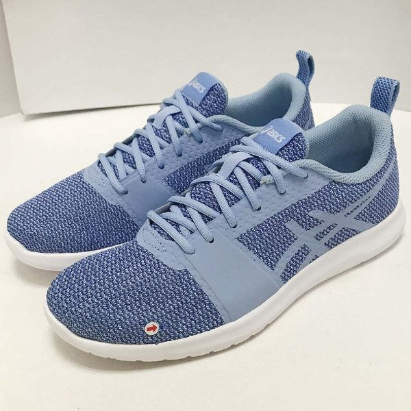 �NG出清�Asics 慢跑鞋 Kanmei 藍 白 基本款 女鞋 左腳側邊鞋面破裂 運動鞋�PUMP306�