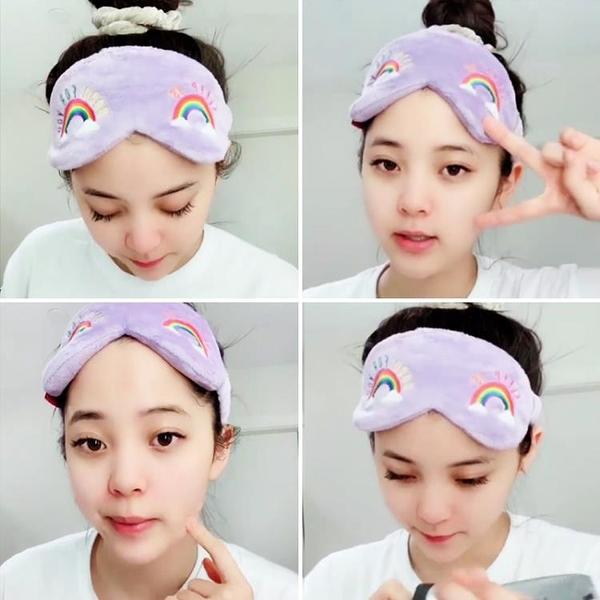 流行新款歐陽娜娜同款洗臉發帶網紅女可愛眼罩兩用睡眠洗臉敷面膜