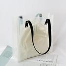 新款ins超火女包韓版pvc透明包果凍包大容量側背包手提托特包 黛尼時尚精品