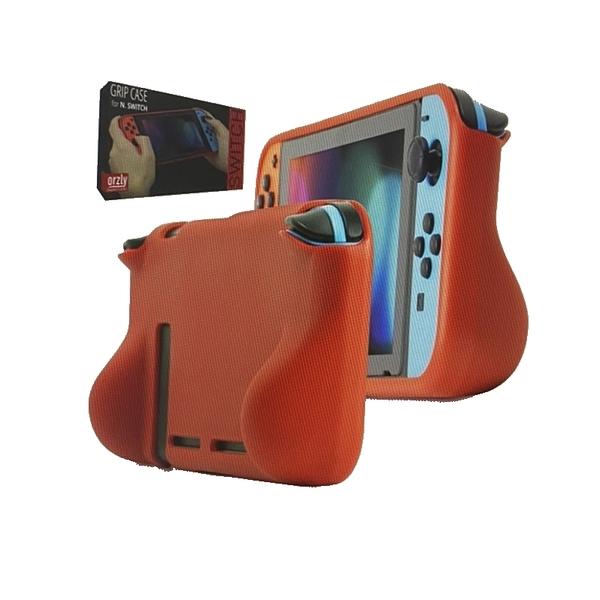 [9美國直購] Orzly Comfort 手把保護套 適用Nintendo Switch Console in Handheld Gamepad Mode 綠/紅/黑/橘