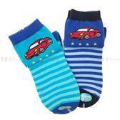 【KP】兒童襪 FOR BOYS 男童中統襪 跑車圖案 條紋 淺藍色 深藍色 19~21cm 正版授權 DTT10000