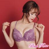 內衣 蕾絲內衣 法式浪漫手捧罩杯B-C罩杯(紫色) 粉紅薔薇