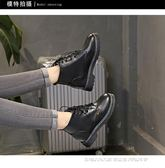 內增高女鞋 馬丁靴女英倫風學生韓版百搭短靴子女系帶內增高女鞋 宜室家居