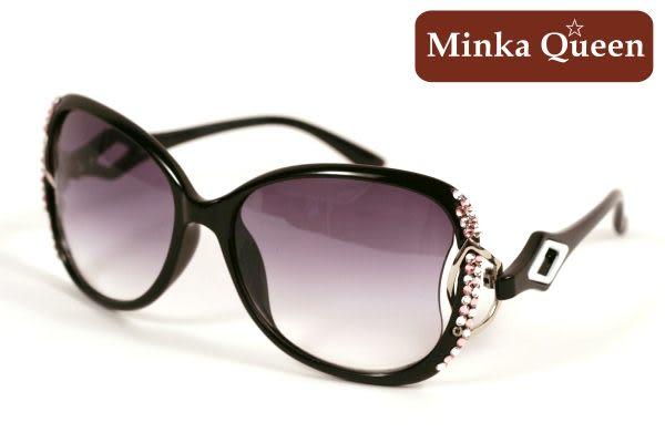 Minka Queen 極致黑框(抗UV400)施華洛世奇‧Swarovski‧水鑽太陽眼鏡(粉紅)