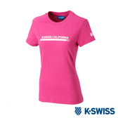 K-SWISS Heritage Graphic Tee印花短袖T恤-女-桃紅