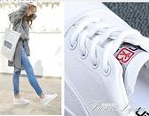 帆布鞋女2020年流行小白鞋韓版學生百搭厚底內增高板鞋運動鞋 范思蓮恩
