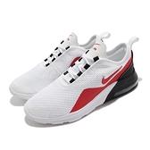 Nike 休閒鞋 Air Max Motion 2 GS 白 紅 黑 氣墊 女鞋 大童鞋【ACS】 AQ2741-101