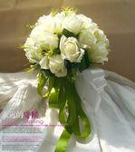 雙12購物節結婚新娘仿真手捧花定制創意DIY婚禮仿真花韓式 影樓婚紗拍攝道具夏沫居家