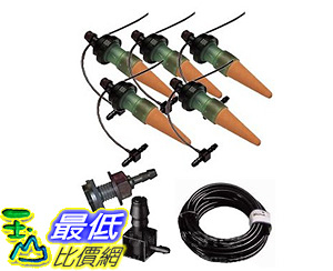 [106美國直購] Blumat Watering Stakes - 5 Plant Starter Drip System - Made in Austria - Great for all Plants