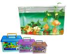 高級飼養箱(中) 水族箱 養魚 昆蟲 小動物  盆栽 塑膠水槽 附蓋具通風口 手提 室內外可用