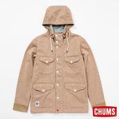 CHUMS 日本 男 Teeshell防水兜帽外套 霧米黃 CH041070B019