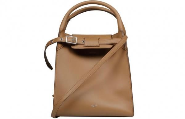 ■專櫃73折■Celine 平滑小牛皮小型big-bag手袋 配長肩帶 淡駝色