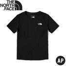 【The North Face 男 排汗透氣短袖上衣 AP《黑》】5374/排汗衣/短T恤休閒短袖