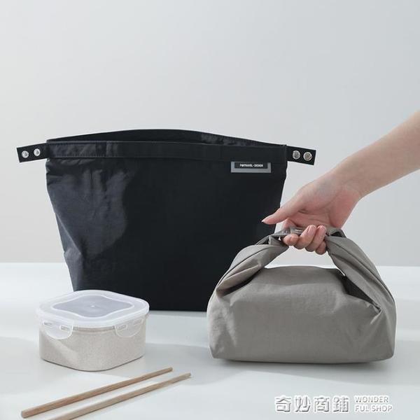 日式飯盒手提保溫便當包上班族帶飯袋子鋁箔防水餐盒午餐時尚小眾 奇妙商鋪