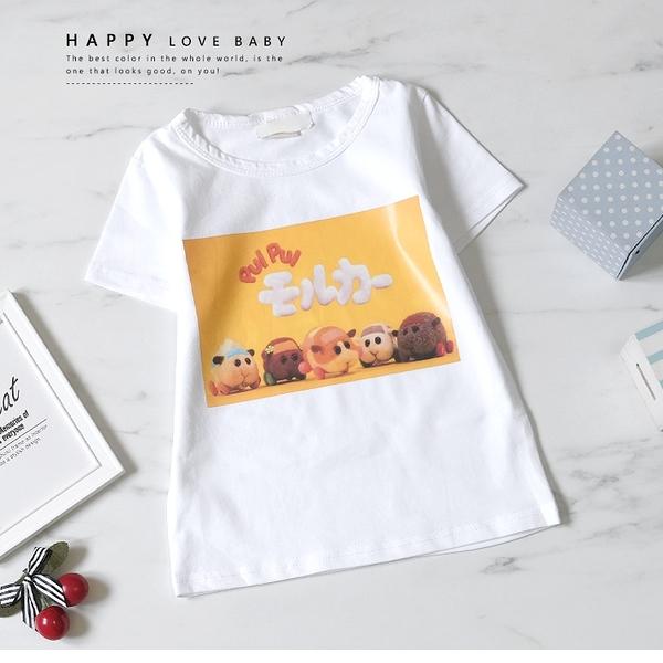 卡通天竺鼠車車家族短T 春夏童裝 男童棉T 男童上衣 男童短袖 男童T恤