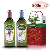 【Olitalia奧利塔】葡萄籽油+玄米油500ml