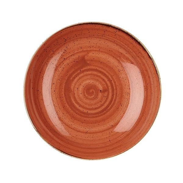 英國Churchill 點藏系列 - 圓形18cm西式餐碗/餐盤(彩橘色)