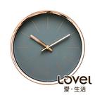 Lovel 16cm 簡約玫瑰金框靜音時鐘-灰(T7361-GY)