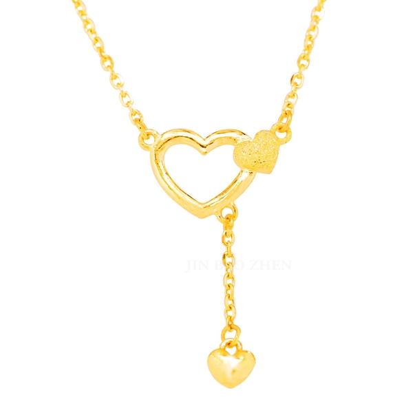 璀璨之心-愛心垂墜式黃金項鍊