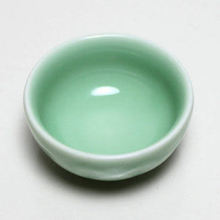 蓮花紋 龍泉青瓷陶瓷茗杯