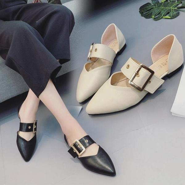 快速出貨 樂福鞋女 小皮鞋英倫韓版百搭平底尖頭鞋