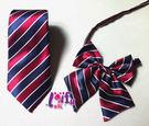 來福妹,K177紅藍條紋制服男女搭配領結...