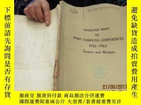 二手書博民逛書店permuted罕見index to joint compute