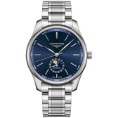 LONGINES 浪琴 Master 巨擘系列月相機械錶-藍/42mm L29194926