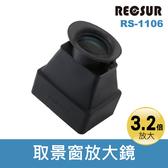 【現貨供應】台灣銳攝 RS-1106 取景遮光放大鏡 3.2倍 螢幕取景器 可以摺疊 可遮蔽強烈太陽光 RECSUR