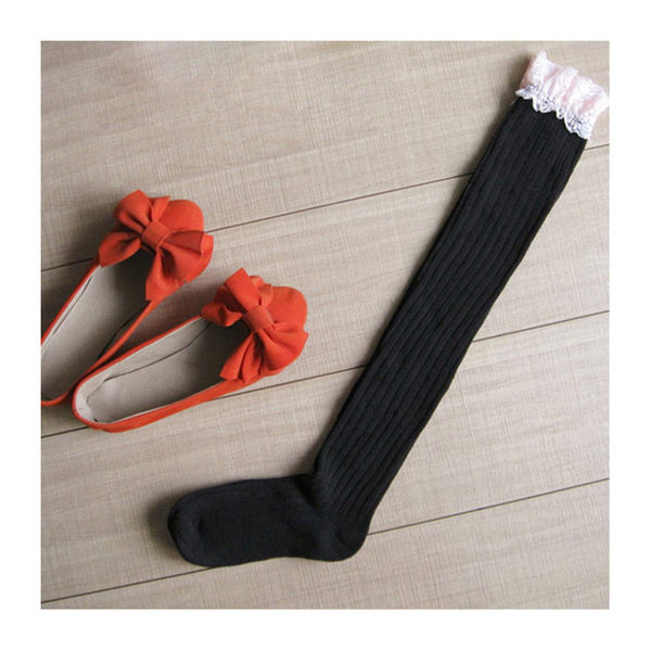 長筒襪 蕾絲 螺紋 加厚 過膝襪 長筒襪【FS018】 ENTER  12/08
