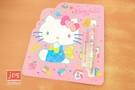 Hello Kitty 凱蒂貓 自動鉛筆文具組 寶石 粉 KRT-668234