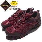 Merrell 戶外鞋 Moab FST 運動鞋 Gore-Tex 防水 越野 登山 紅 黑 休閒鞋 女鞋【PUMP306】 ML37158