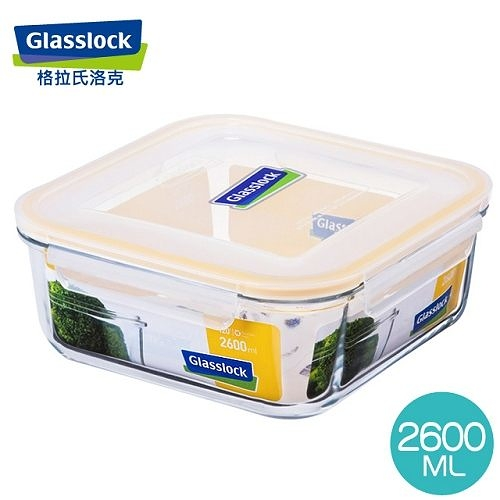 【Glasslock】強化玻璃微波保鮮盒 - 方形2600ml  RP535