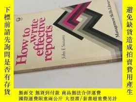 二手書博民逛書店How罕見to write effective reportsY