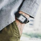 長方形手錶男女學生社會精神小夥潮男士石英錶 韓語空間