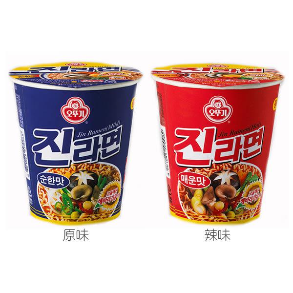 韓國不倒翁 金拉麵杯麵(1杯裝) 原味/辣味 2款可選【小三美日】泡麵/進口/ 團購